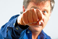 Portrait of man with fist Stock Image
