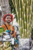 Cane juice seller in Morocco.