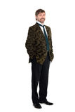 Portrait man in full length. Cheerful middle aged man in full length stock photo