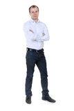 Portrait of a man at full length. In the studio. Isolate on white royalty free stock photography