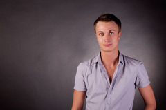 Portrait of a man. gay. Black Background Stock Image