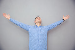 Portrait of a man gesturing freedom expression Royalty Free Stock Photos