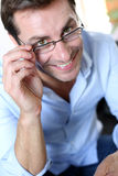 Portrait of man with glasses Royalty Free Stock Image