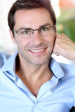 Portrait of man with glasses Stock Image