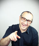 Portrait of a man with glasses smiling Stock Photography