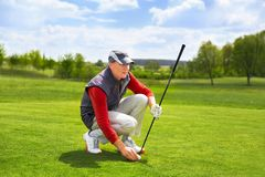 Portrait of man golfer Royalty Free Stock Photos