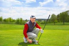 Portrait of man golfer Royalty Free Stock Image