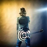 Portrait of man with guitar Royalty Free Stock Photography