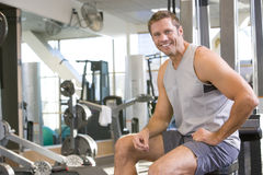 Portrait Of Man At Gym Stock Images
