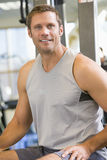 Portrait Of Man At Gym Royalty Free Stock Photo
