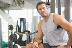 Portrait Of Man At Gym Royalty Free Stock Image