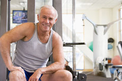 Portrait Of Man At Gym Stock Photo