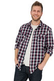 Portrait of a man with hands in pockets Royalty Free Stock Photos