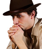Portrait of a Man in a Hat Stock Images