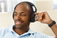 Portrait of man with headphones Stock Photography
