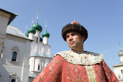 Portrait of man in historical clothes Royalty Free Stock Photo
