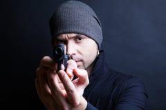 Portrait of a man holding gun Royalty Free Stock Image
