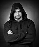 Portrait of the man in a hood Stock Photos