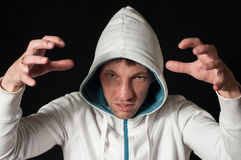 Portrait of Man in hood Royalty Free Stock Images