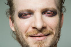 Portrait of a man with hooded eyes. Royalty Free Stock Photos