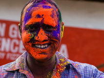 Portrait Of A Man India. Portrait of a Man on the festival of Stock Photo
