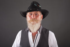 Portrait of man with long white beard Stock Photography