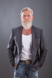 Portrait of man with long white beard Royalty Free Stock Image