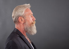 Portrait of man with long white beard Royalty Free Stock Photography