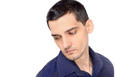 Portrait of a man looking down. Royalty Free Stock Photos