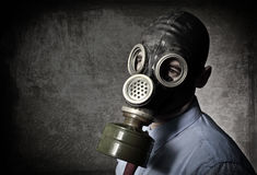 Portrait of man with mask Stock Image