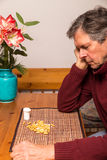 Portrait of a man with medications Royalty Free Stock Photography