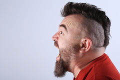 Portrait of a man with a mohawk Royalty Free Stock Photo