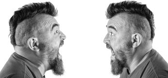 Portrait of a man with a mohawk Stock Photos