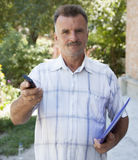 Portrait of a man with a mustache Royalty Free Stock Image