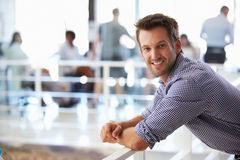 Portrait of man in office smiling Stock Images
