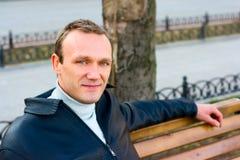 Portrait of man outdoor stock image