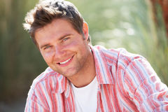Portrait man outdoors Stock Photos