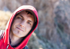 Portrait of a man. Outdoors portrait of a man royalty free stock image