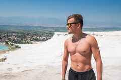 Portrait of man in Pammukale Stock Photography