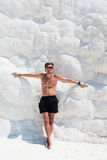 Portrait of man in Pammukale Royalty Free Stock Images
