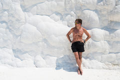 Portrait of man in Pammukale Stock Image