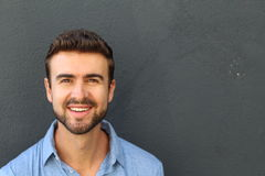 Portrait of a man with perfect teeth.  Royalty Free Stock Photo