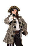 Portrait of man in a pirate costume Royalty Free Stock Images