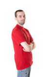 Man in a red shirt Royalty Free Stock Images