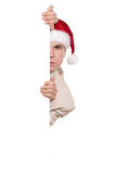 Portrait of man in santa hat Royalty Free Stock Photos