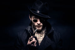 Portrait of man, Sherlock Holmes like character Royalty Free Stock Images