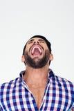 Portrait of a man shouting Stock Photos