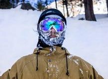 Portrait of man at ski resort Stock Image