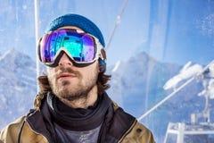 Portrait of man at ski resort Royalty Free Stock Image