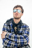 Portrait of man at ski resort Royalty Free Stock Photography